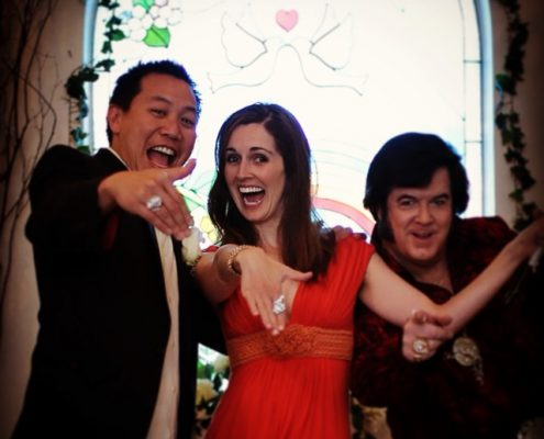 Married in las vegas, elvis little white chapel