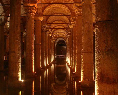 underground cistern Basilica Cistern Istanbul, Turkey
